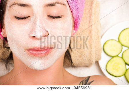 Woman facial treatment