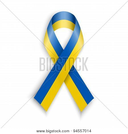 Yellow Blue Colors National Flag Of Ukraine