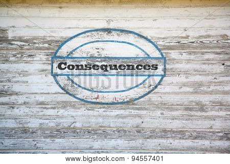 consequences sign on shed side