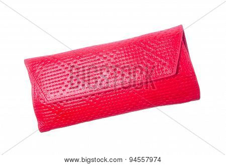 Wallet Or Purse Woman (red Colour) On A Background.