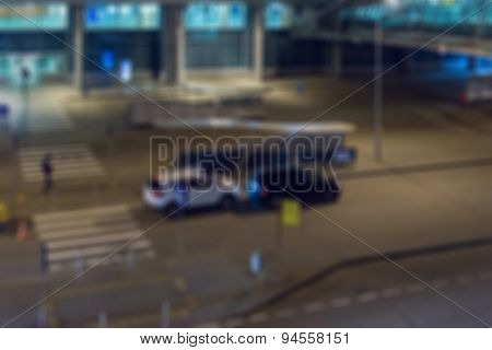 Modern airport by night abstract background