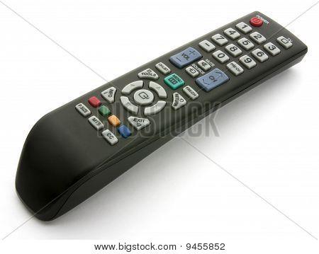 Control remoto de TV aislado en blanco