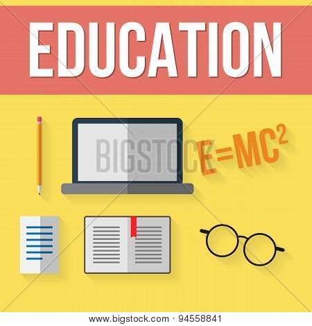 Set of education elements.