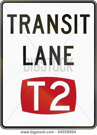 T2 Transit Lane In Australia
