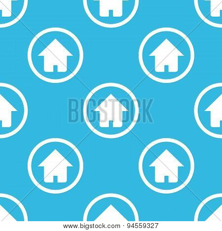 Home sign blue pattern