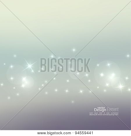 Abstract blurred background with sparkle stars
