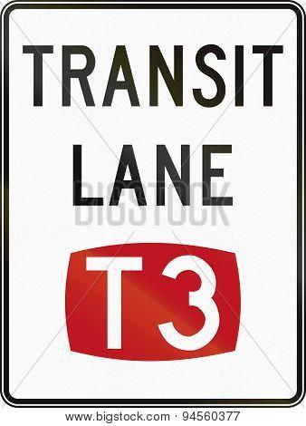 T3 Transit Lane In Australia