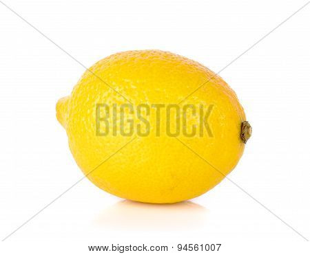 Yellow Lemon Isolated On The White Background