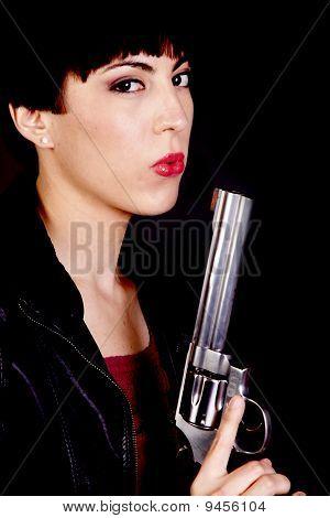 Blowing On Gun