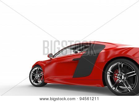 Back Of A Generic Red Sport Car