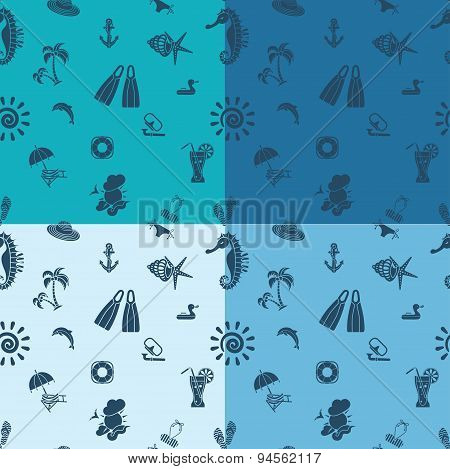 Four Background in Different Colors