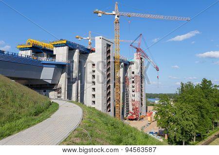 Large Construction Site Niederfinow