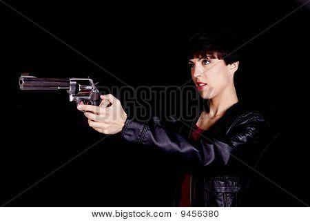 Getting Ready To Shoot Gun