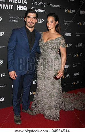 LOS ANGELES - JUN 27:  Raul Castillo, Dascha Polanco at the NALIP 16th Annual Latino Media Awards at the W Hollywood on June 27, 2015 in Los Angeles, CA