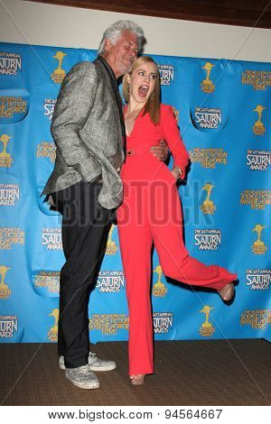 LOS ANGELES - JUN 25:  Barry Bostwick, Amanda Schull at the 41st Annual Saturn Awards Press Room at the The Castaways on June 25, 2015 in Burbank, CA