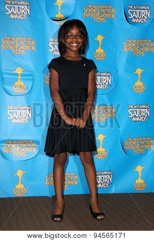 LOS ANGELES - JUN 25:  Marsai Martin at the 41st Annual Saturn Awards Press Room at the The Castaways on June 25, 2015 in Burbank, CA