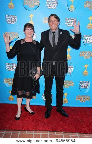 LOS ANGELES - JUN 25:  Julie Nimoy, Adam Nimoy at the 41st Annual Saturn Awards Arrivals at the The Castaways on June 25, 2015 in Burbank, CA