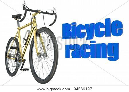 Bicycle Race Concept Isolated