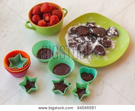 Cooking Pastilles Of Strawberries
