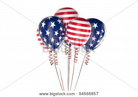 Usa Patriotic Balloons, Federal Holyday Concept