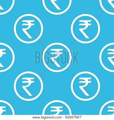 Rupee sign blue pattern