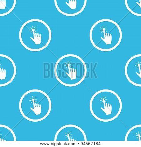 Hand cursor sign blue pattern
