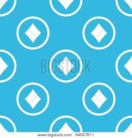 Diamonds sign blue pattern