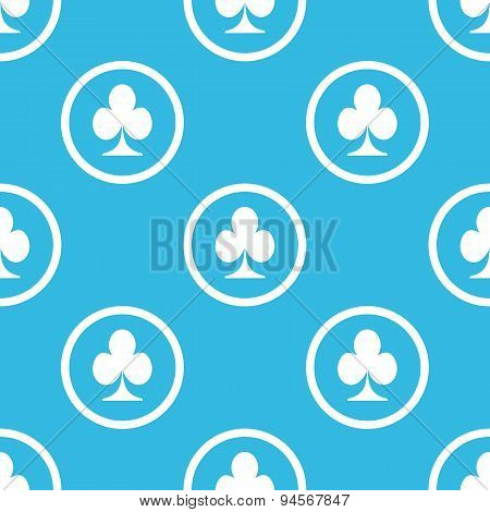 Clubs sign blue pattern