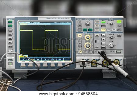 Compact Industrial Oscilloscope On Desk