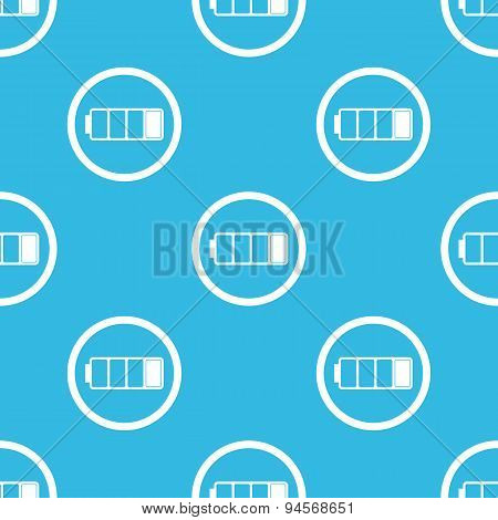 Low battery sign blue pattern