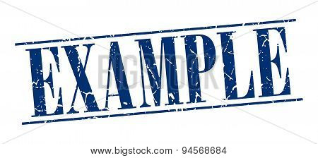 Example Blue Grunge Vintage Stamp Isolated On White Background