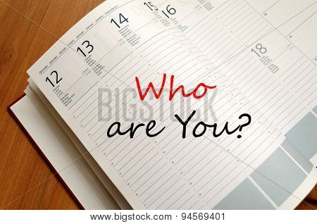 Who Are You Concept Notepad