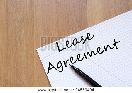 Lease Agreement  Concept Notepad