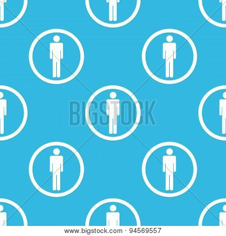Man sign blue pattern
