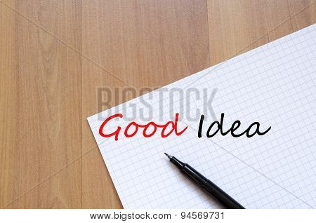 Good Idea Concept Notepad