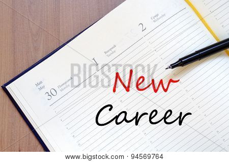 New Career Concept Notepad