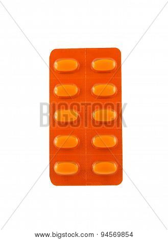 Tablets In Orange Package