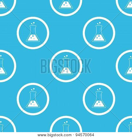 Conical flask sign blue pattern