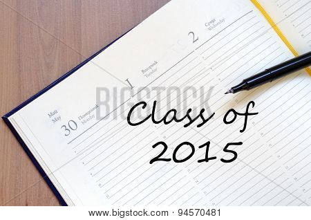 Class Of 2015 Concept Notepad
