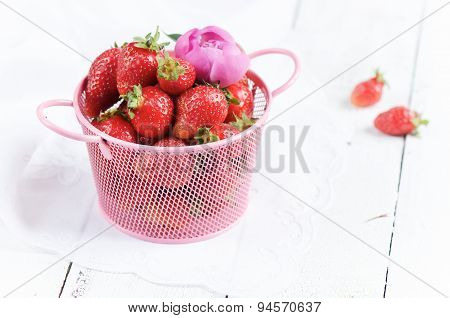 Fresh and juicy strawberries