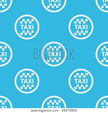 Taxi sign blue pattern