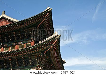 Korean Traditional Architecture,, Sky, Asian Roof