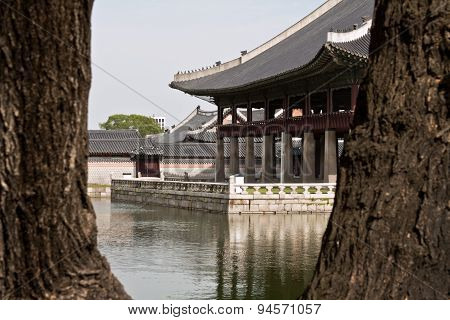 Gyeonghoeru Pavilion Of Gyeongbokgung Palace, Seoul, South Korea.