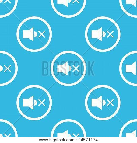Muted sound sign blue pattern