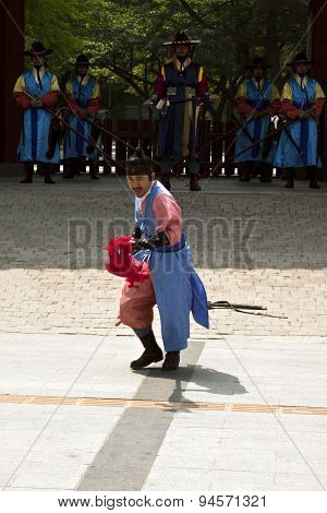 Armed Guards In Traditional Costume