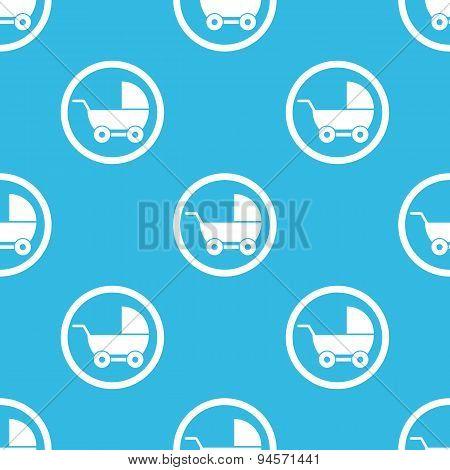 Pram sign blue pattern
