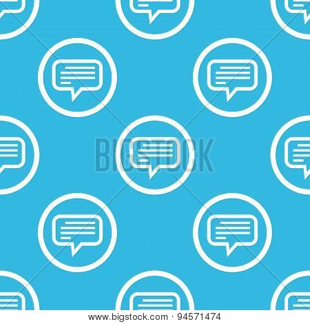 Text message sign blue pattern
