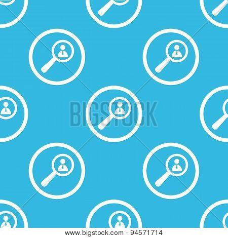 User details sign blue pattern