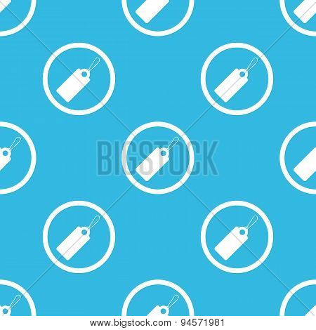 String tag sign blue pattern
