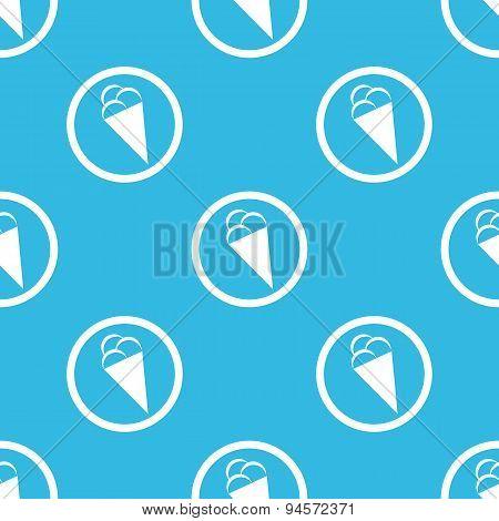 Ice cream sign blue pattern